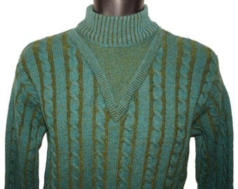 1960s Mens Pullover Sweater Sz M Vintage