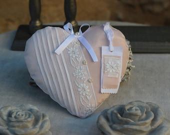 great old heart in front of dress 1900 below powder pink organdie cotton voile