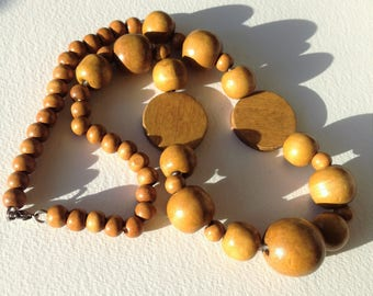 Wood Necklace - wooden necklace large wooden beads