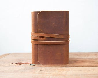 Refillable leather Journal. Leather Journal Cover, A5 refillable journal, Moleskine cover