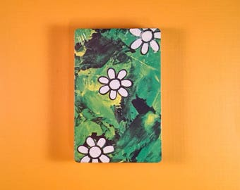Green and Daisies Vintage Flowers Playing Cards