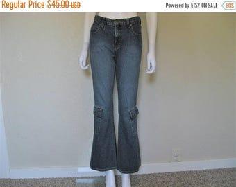 ON SALE MUDD 90s Cargo Pocket Flare Leg Jeans