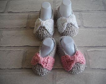 cotton baby booties/cotton sandals/deck shoes/baby sandals/cotton pumps/christening shoes/crochet baby booties/baby shower gift/baby shoes.