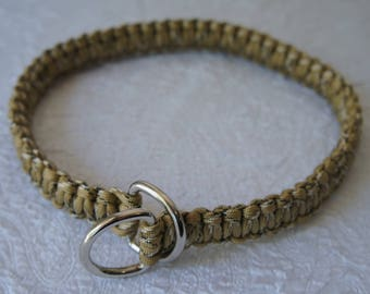 Paracord Dog Slip-Collar - Thick Cobra - Desert Camo 2. 20 inch fits 17.5 inch head - Ready to Ship RTS