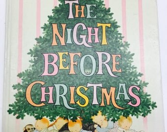The Night Before Christmas HC 1961 Clement C. Moore Pictures by Gyo Fujikawa Classic Storybook