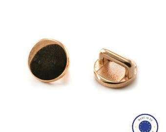1 x passing Zamak round 10mm - made in Europe - ROSE gold (ROSE GOLD