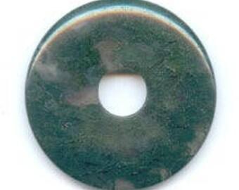 Pendant - 30mm MOSS AGATE Donut