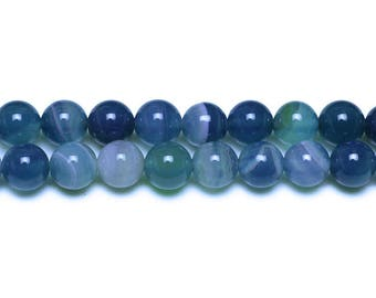 10 x beads 6mm TURQUOISE dyed natural Agate