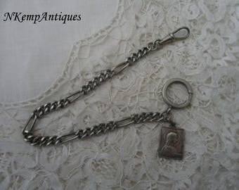 Antique watch chain 1910 religious fob