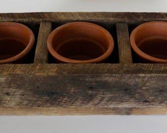 Greenville Craftworks 3-Pot Herb Box