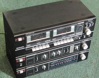 Vintage Sanyo Matched Stereo System - Nice Shape - Works Great!