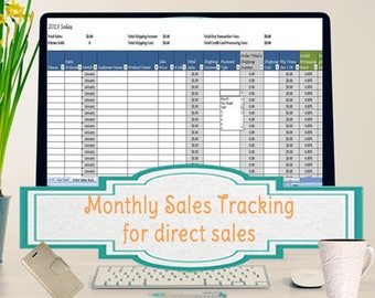 Sales Template, Monthly Sales Tracking Template, Direct Sales Planner