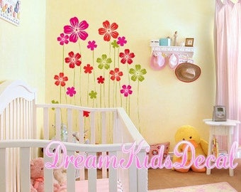 Flower Decal Flowers Wall Decals Vinyl Wall Decals Floral Wall Sticker-Flower Garden