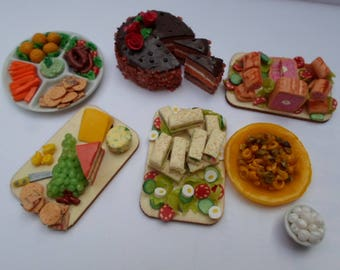 Barbie doll food. Celebration time playfood party