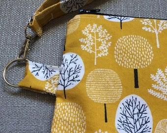 medium project bag--yarn trees
