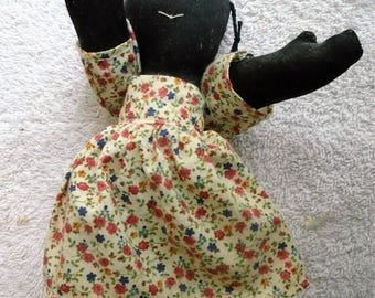 Estate Item - Vintage Black Americana Rag Doll circa Late 50's to early 60's