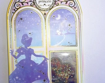 """Fairy tale Cinderella """"cristal"""" stickers set for scrapbooking, stationery, decoration..."""