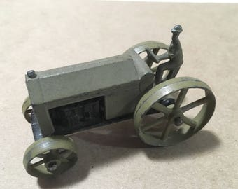 Early Tootsie Toy Farm Tractor