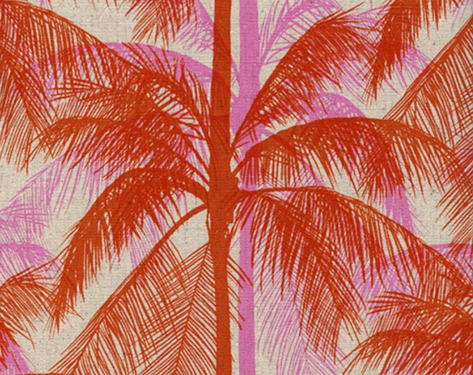 PRESALE: Palms - Pink in CANVAS from Poolside by Melody & Alexia for Cotton + Steel