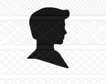 Ken Head Silhouette SVG, PNG, and STUDIO3 Cut Files for Silhouette Cameo/Portrait and Cricut Explore DIY Craft Cutters