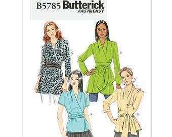 Butterick Sewing Pattern B5785 Wrap Shirt Size 16-24
