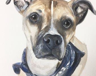 PET PORTRAIT, Custom pet portrait, dog portrait, cat portrait, custom pet painting, dog cat watercolor, watercolour, dog portrait,