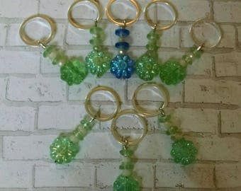 Eight Floral Stitch Markers for Knitting