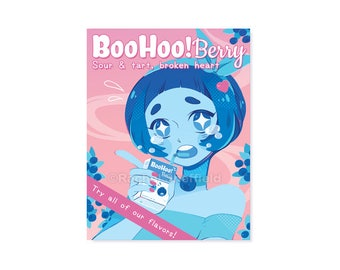 BooHoo! Berry Print