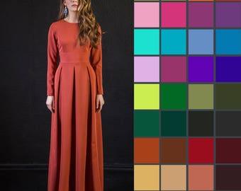 Red Dress, Women Dress, Winter Dress, Plus Size Maxi Dress, Long Sleeved Dress, Floor Length Dress, Maxi Boho Dress, Elegant Evening Dress