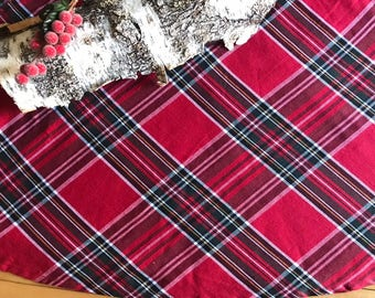 Christmas Tree Skirts Large Skirt Plaid Red Tartan