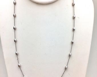 Moon cut Station Necklace
