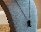 Lava Stone Bar Necklace