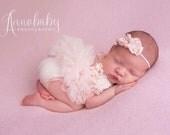 PREORDER Pink Newborn Girl Romper, Newborn Ruffle Outfit, Newborn Ruffle Romper, Newborn Pink Outfit, Newborn Girl Photo Outfit, Photo Props
