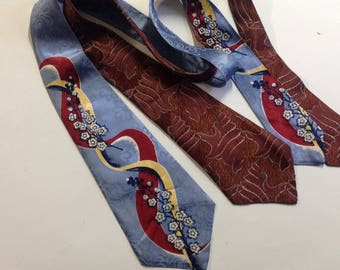 2 vintage mens neckties