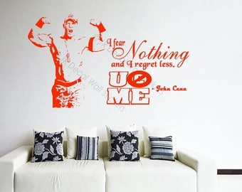 10% OFF U Canu0027t See ME John Cena Wall Stickers Wwe Wrestlers Quotes Part 40