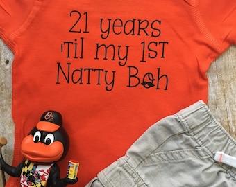 Baltimore Natty Boh - National Bohemian - Baby Bodysuit and Baby T-Shirt!