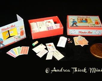 Vintage German Miniature Post Office Game 2 - Artisan Handmade Miniature 1:12 scale