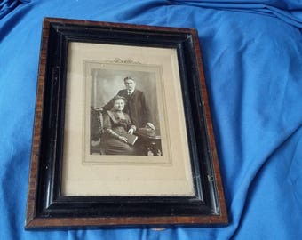 Vintage Glazed Photo and Frame