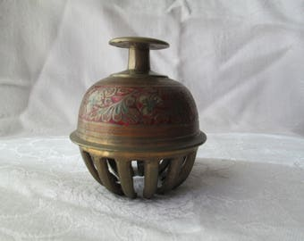 Vintage Brass Elephant Bell, Made in India