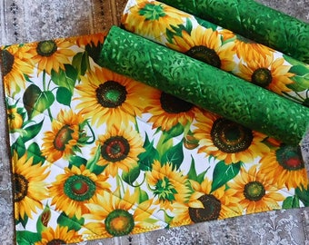 Quilted Placemats - Spring Placemats - Kitchen Decor - Set of 4 Placemats - Home Decor - Table Decor - Fabric Placemats - Spring Decor