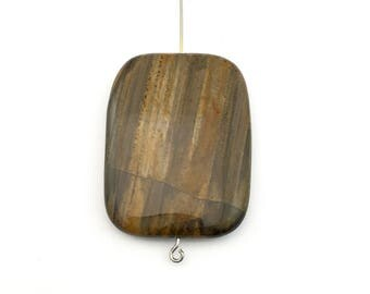 1 Petrified Wood  stone bead, 30mm x 40mm # PP180-2