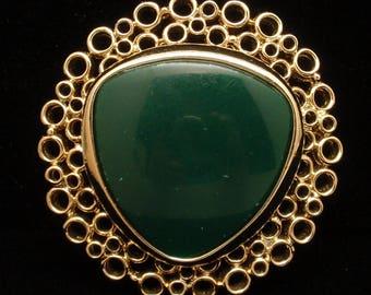 Green Brooch Pin Monet