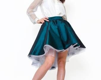 fluffy grin taffeta skirt