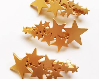 Gold Shooting Stars Barette