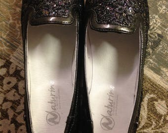 NATURINO ballet flat leather girl shoes, size EURO 33 (US 2), new, without box