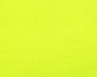 Felt 1.5 mm neon yellow A4 size sheet