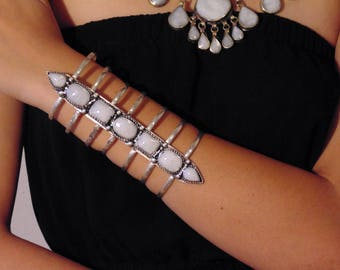 Vintage Style Kuchi Cuff Bracelet - Afghani Ethnic Statement Bracelet