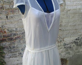 Long Bohemian lace wedding dress was