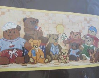 Sunset Stitchery Crewel Kit Bear With Us Donna Enstaff 2605