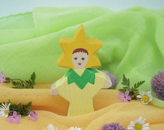 Flower Child Sunflower, Nature Table, Wooden Toys, Wood, Deco